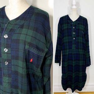 POLO Ralph Lauren plaid flannel nightgown